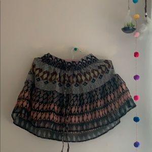 Charlotte Russe Boho-Inspired Skirt
